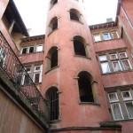 Escalier à vis in the traboules of Lyon