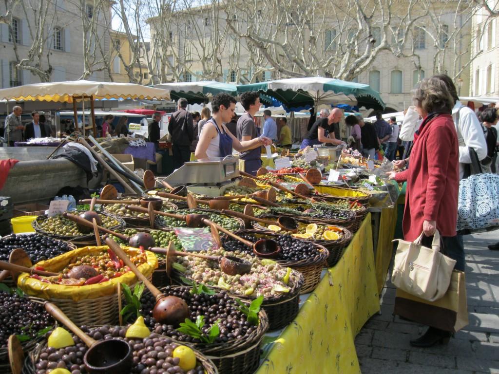 Vegetable market in Uzès