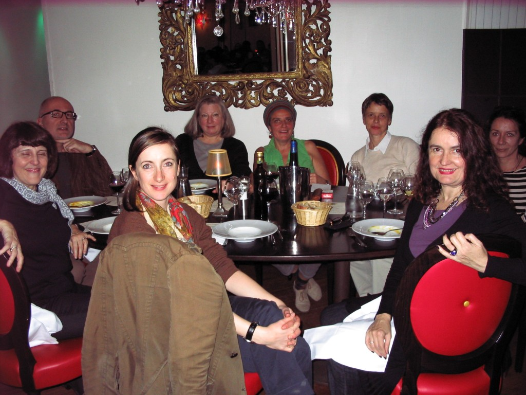Thanksgiving dinner, teachers' table