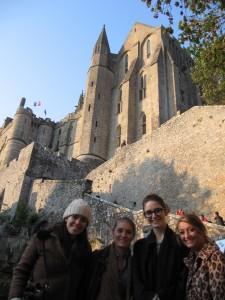 Montée vers l'abbaye, Mont saint Michel