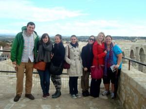 En haut des arènes d'Arles