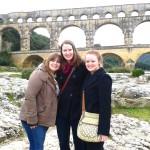 Les filles de SBC au Pont du Gard
