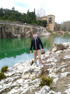 La rivière sous le Pont du Gard