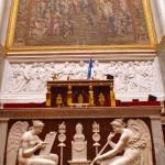 Tribune dans l'hémicycle