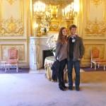 Marisa et Dylan dans un des salons du Palais Bourbon
