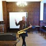 Emma au saxophone