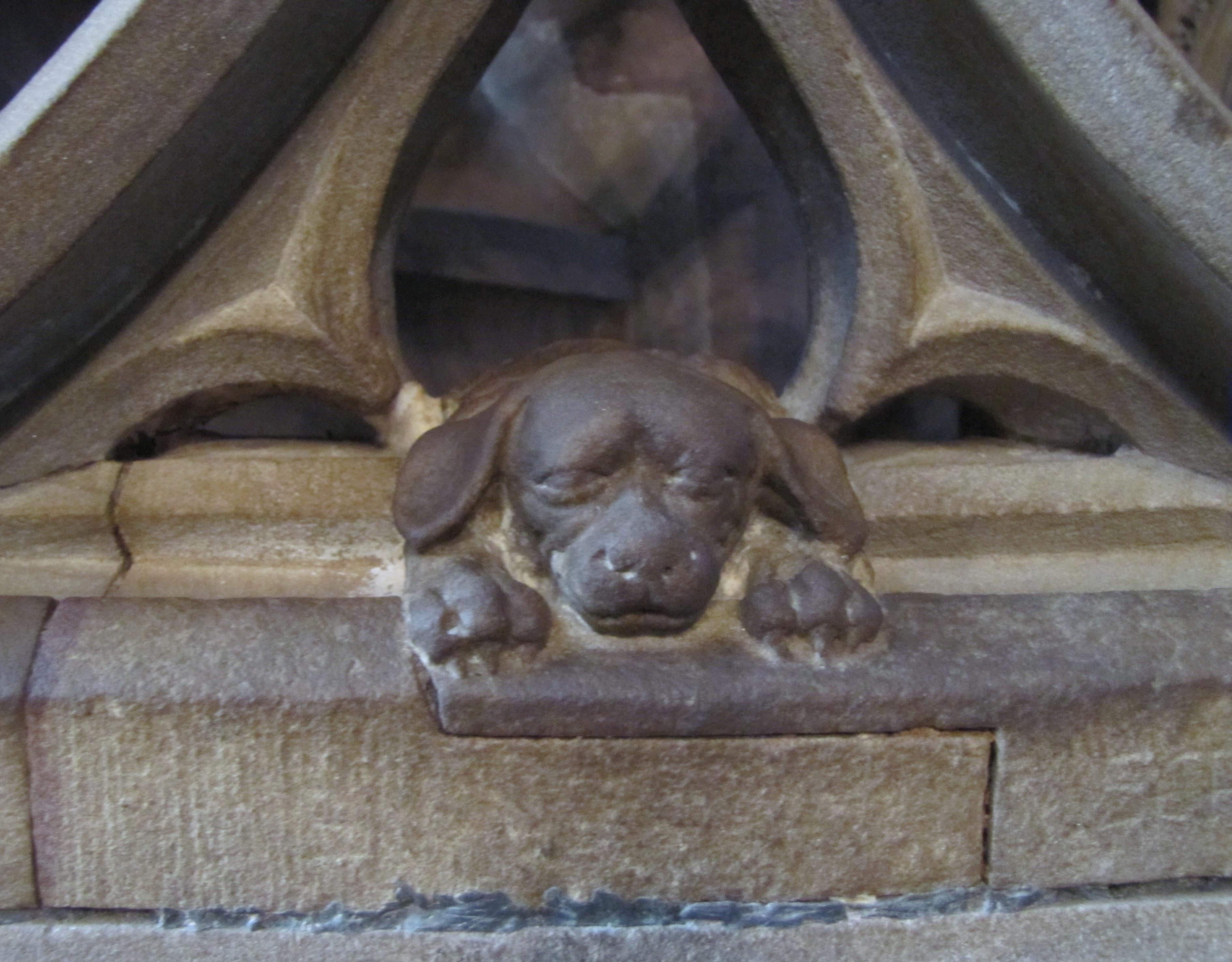 Le chien porte-bonheur de la cathédrale de Strasbourg