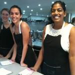 Olivia, Cara et Vaishali