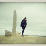Maggie à la Pointe du Hoc