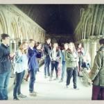 Dans le cloître de l'abbaye