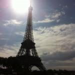 Tour Eiffel à contre-jour