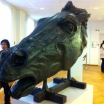 Rebecca et le cheval de Bartholdi