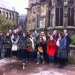 Derrière la cathédrale de Reims