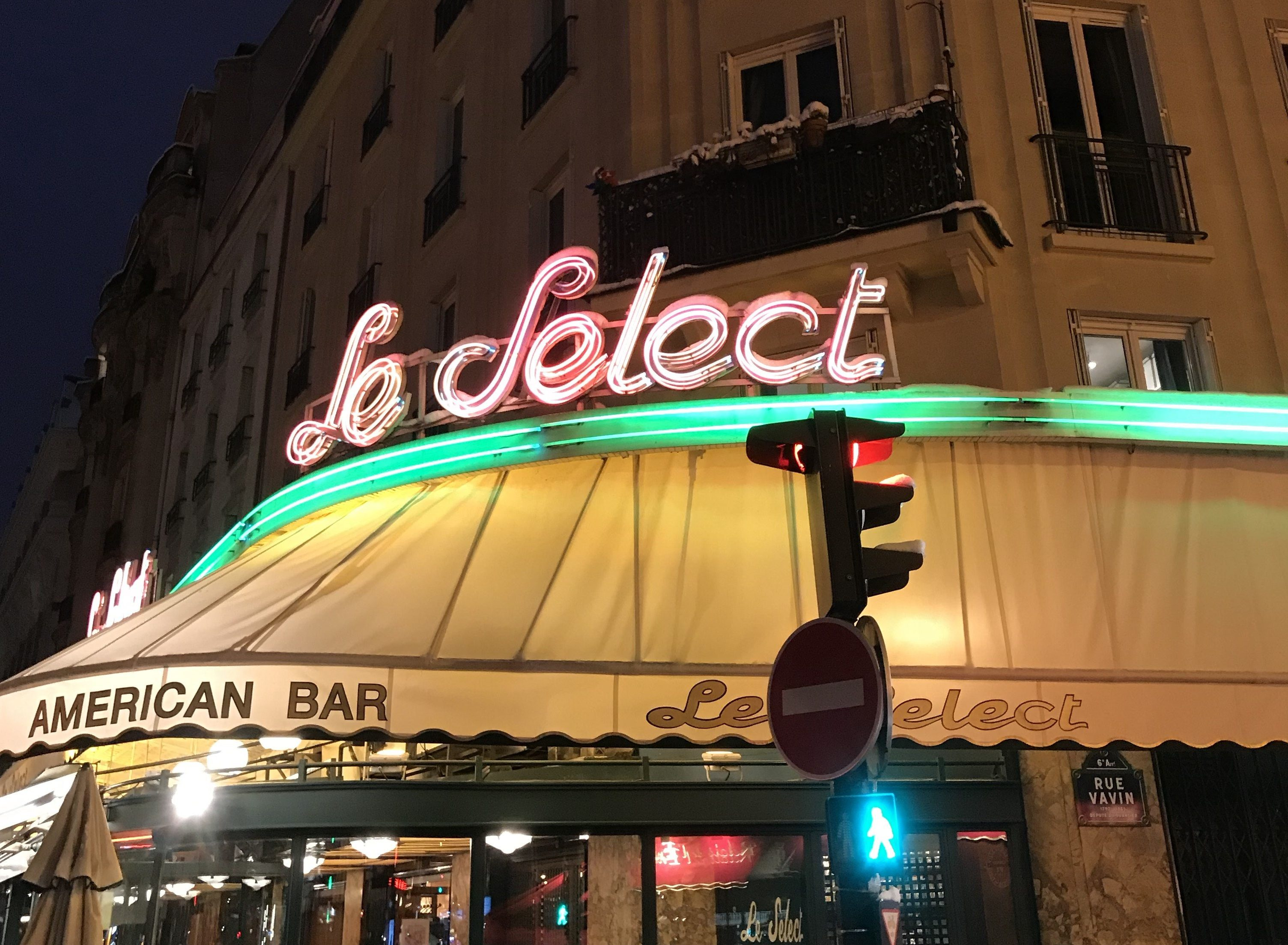 Le Café Le Sélect à Montparnasse